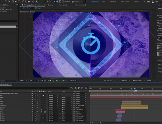 Adobe Insights: Exploring 2021 Performance Improvements with Hardware Optimization and Multi-frame Rendering for After Effects 18