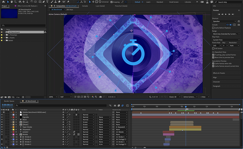 Adobe Insights: Exploring 2021 Performance Improvements with Hardware Optimization and Multi-frame Rendering for After Effects 1