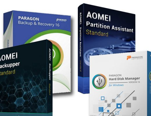 Backup & Recovery: free tools from Paragon and AOMEI