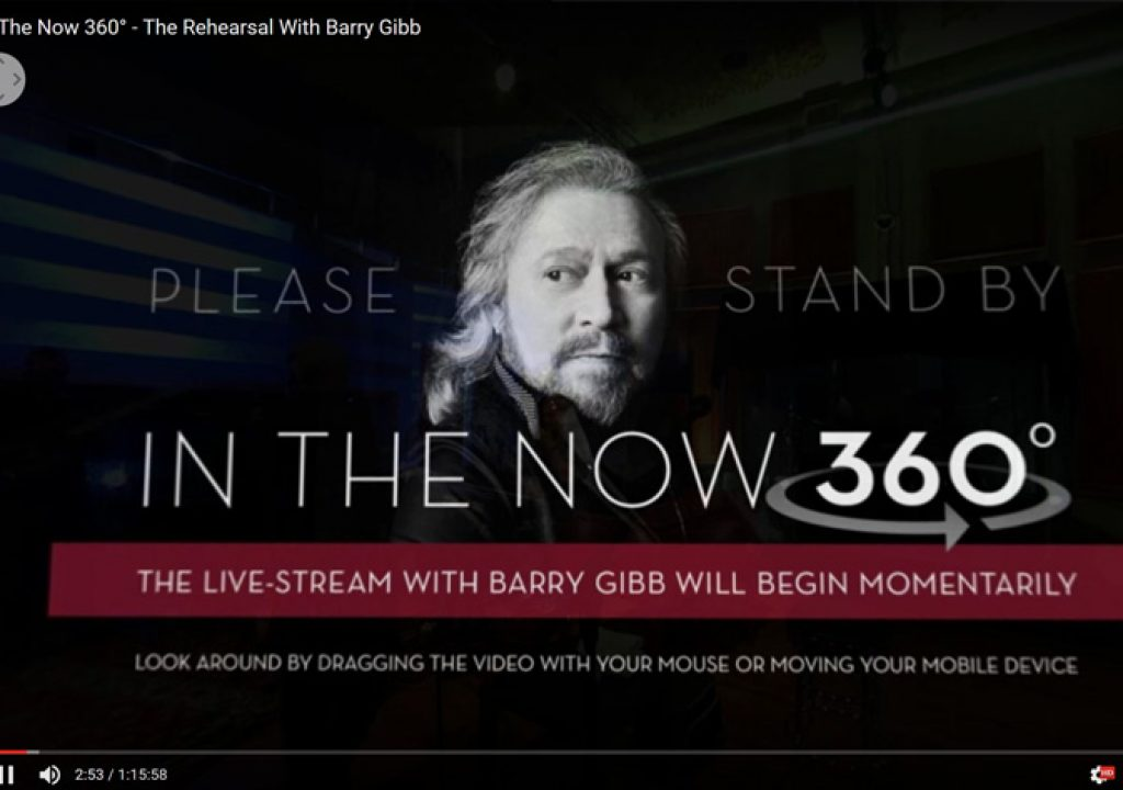 BeeGees legend Barry Gibb in 360