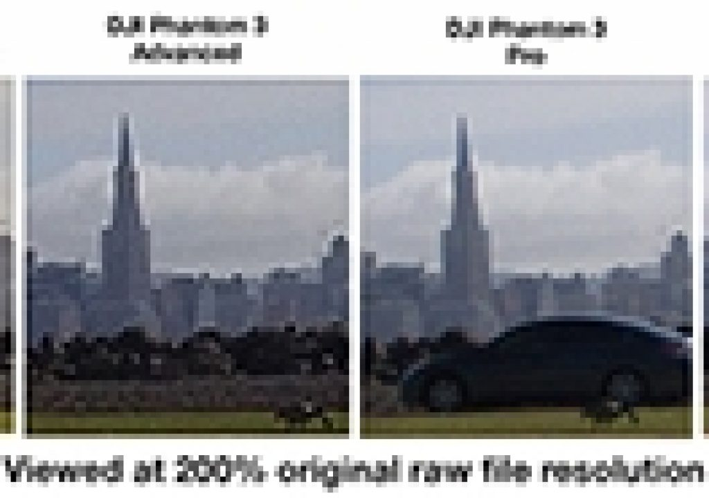 DJI Aerial Camera Comparisons in 4K and 60p 1