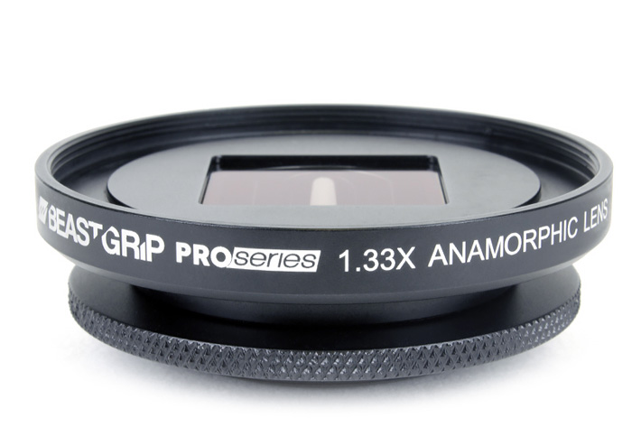 A Beastgrip Anamorphic lens for your smartphone