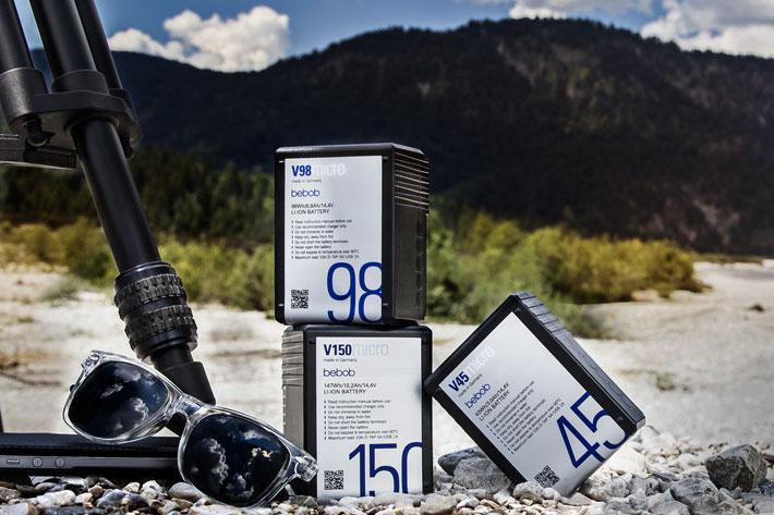 Vmicro and Amicro ultra-compact bebob battery packs at NAB 2019