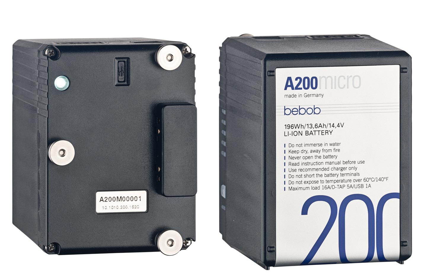 Micro monsters: new 200 Wh battery packs from bebob