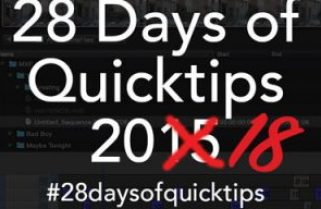 Day 26 #28daysofQuickTips 2018 – Round-tripping just a few shots from Resolve