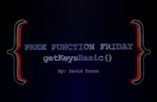 Free Function Friday getKeysBasic