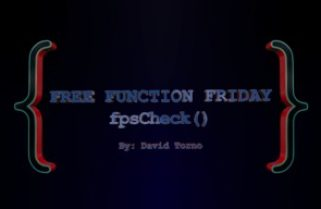 Free Function Friday fpsCheck