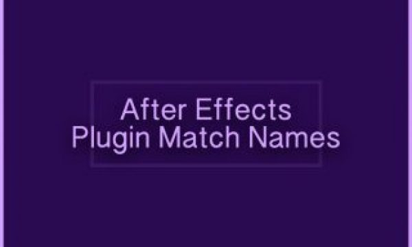 After Effects Plugin Match Names