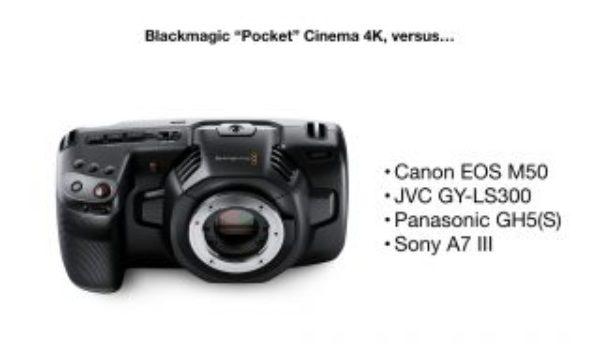 """Blackmagic """"Pocket"""" Cinema Camera 4K vs competition: Canon, JVC, Panasonic and Sony"""