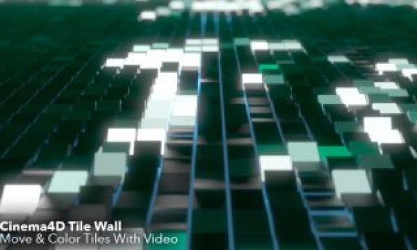 Cinema4D Tile Wall