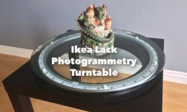 Ikea Lack Photogrammetry Turntable
