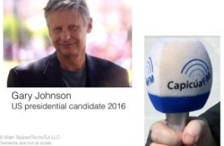 How I interviewed presidential candidate Gary Johnson with a digital mic from Italy