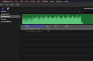 Publishing Music to Final Cut Pro X