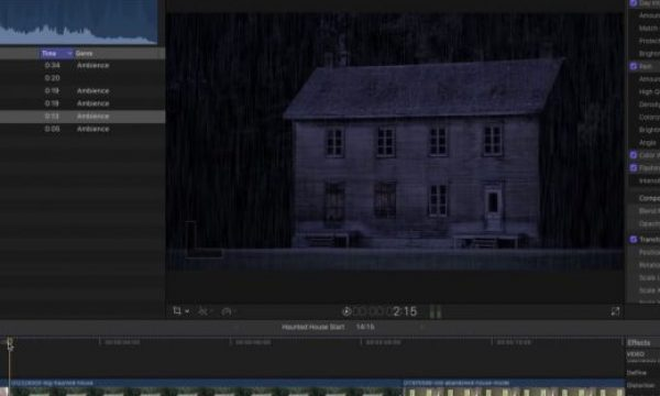 Creating a Dark and Stormy Night in Final Cut Pro X