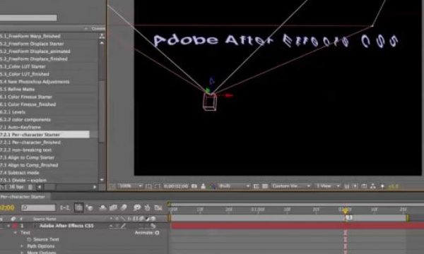 After Effects Classic Course: updated text features in AE CS5