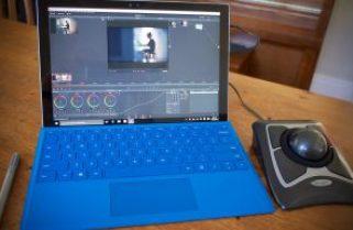 DaVinci Resolve on a Surface Pro 4