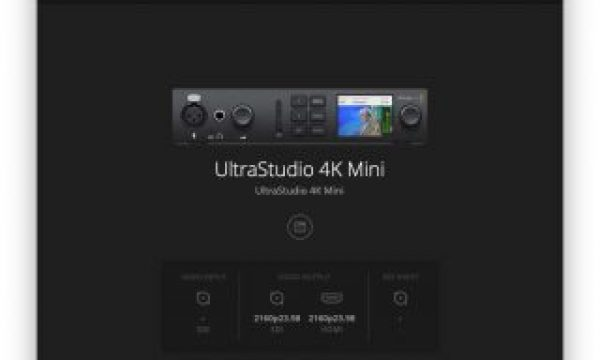 Blackmagic Design's UltraStudio 4K Mini I/O is Built for the Demands of Production and Post