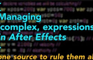 Managing complex expressions in After Effects