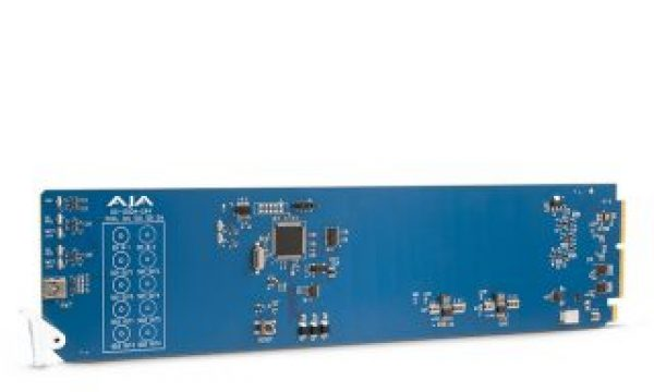 AJA  shows OG-12GDA-2×4, an openGear 12G-SDI distribution amplifier