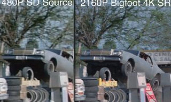 VideoGorillas' Bigfoot super resolution converts films from native 480p to 4K