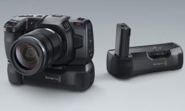 Shoot longer with a battery grip for your Blackmagic Pocket Cinema Camera 4K