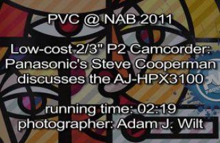 NAB 2011 Video – Panasonic AJ-HPX3100