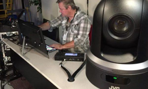 Podcast studio uses JVC KY-PZ100 robotic PTZ video production cameras