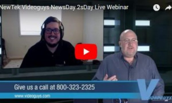 Videoguys Action-Packed Live Webinar on NewTek TriCaster Mini Advanced and more