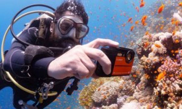 Underwater Panasonic Lumix TS7 4K action camera vs  FT7