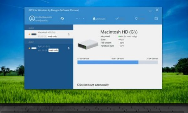 Access Apple's APFS volumes on a Windows PC
