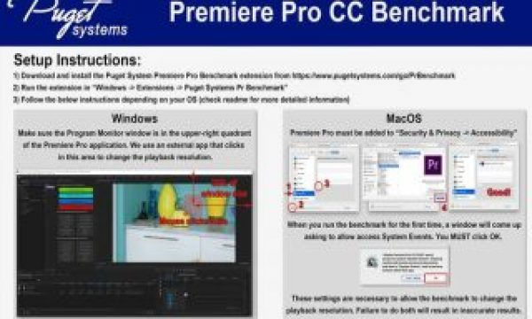 Puget Systems launches a new FREE app: Adobe Premiere Pro CC Benchmark