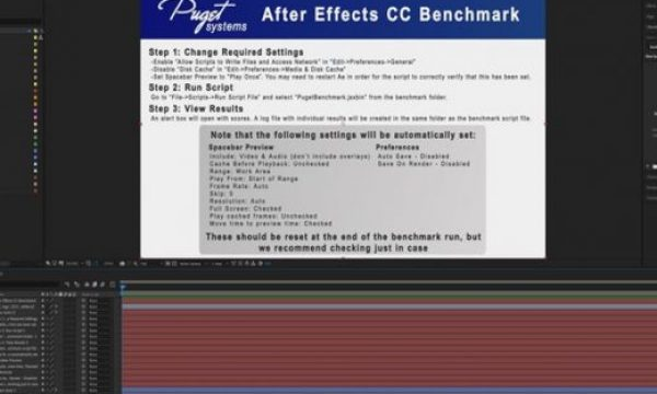 Puget Systems offers After Effects CC FREE benchmark for PC and Mac