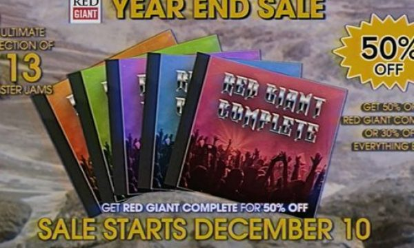 Red Giant: the giant Year End Sale starts December 10 and lasts only 24 hours