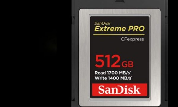 SanDisk unveils PRO CFexpress Card Type B with NVMe technology