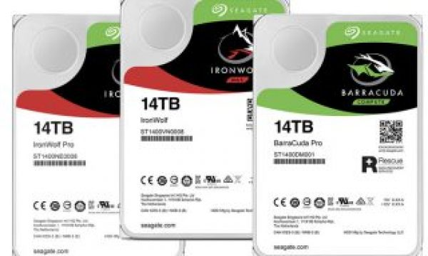 Seagate BarraCuda Pro, IronWolf and IronWolf Pro HDDs reach 14TB