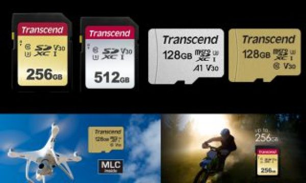 Transcend: new 500S and 300S memory cards for cameras, drones and smartphones