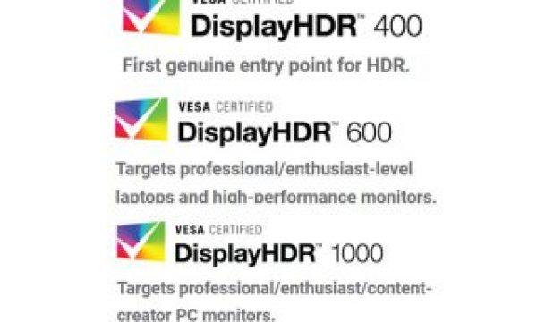 VESA defines HDR standard for displays