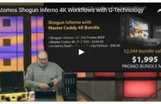 4K Workflows with Atomos Shogun Inferno Monitor and G-Technology Master Caddy
