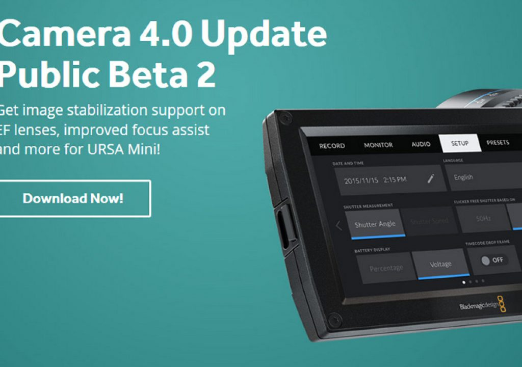 Blackmagic Ursa Mini OS gets Beta 2