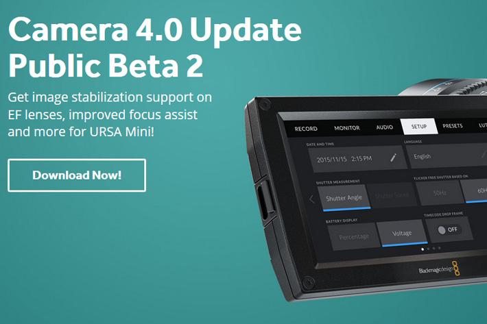 Blackmagic Ursa Mini OS gets Beta 2