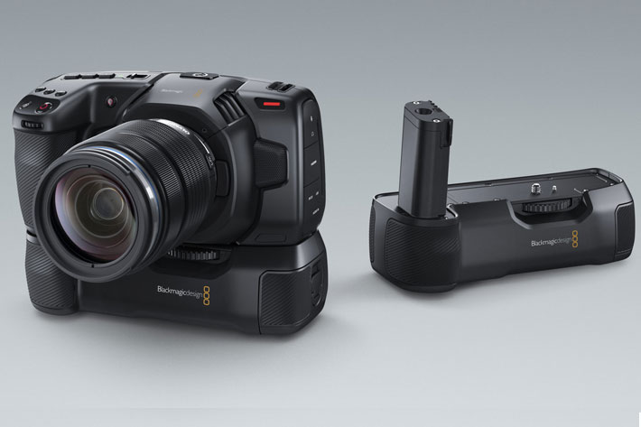 A battery grip for your BlackMagic Pocket Camera 4K