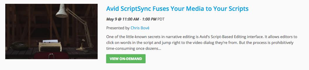 Avid ScriptSync: An Editor's Secret Weapon 43