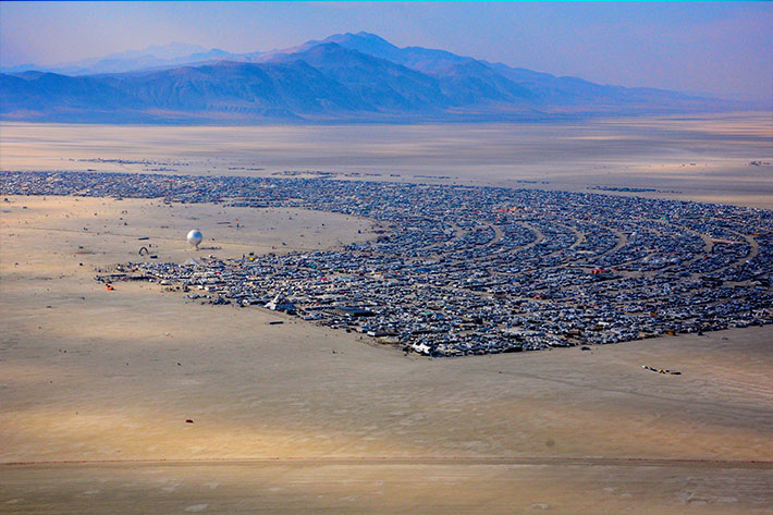 Burning Man seen from the sky: the photography of Will Roger