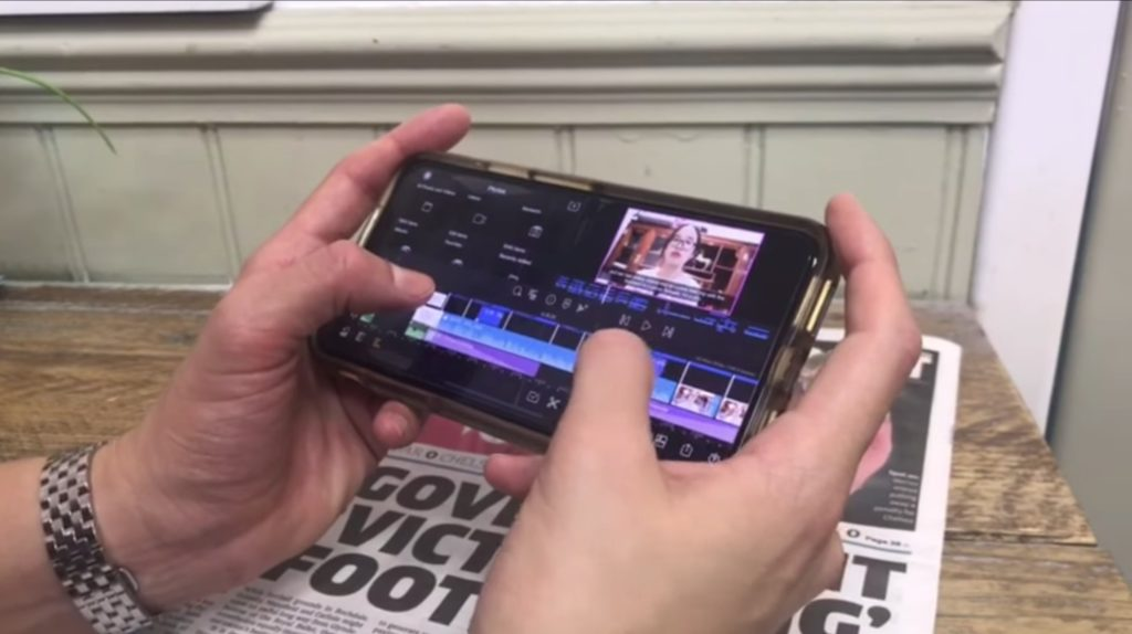Editing on iphone