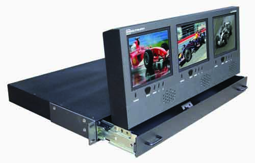 PRECO INTRODUCES COOLTOUCH DX-563A 1 RU TRIPLE-SCREEN MONITOR 1