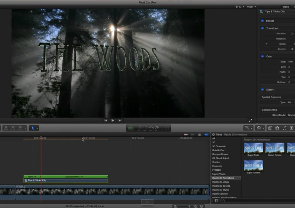 3D Title Animation Tips for Final Cut Pro X 1