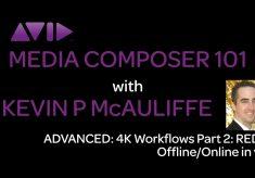 Media Composer 101 – Advanced – 4K Workflows Part 2: RED 4K Offline/Online in v8.3