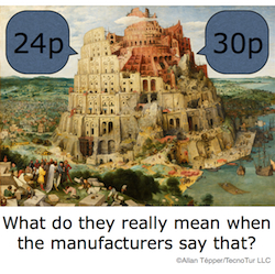 Video framerates and the Tower of Babel: a translation guide 47