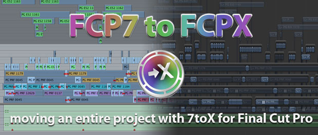 Testing the 7toX Final Cut Pro 7 to Final Cut Pro X conversion 1
