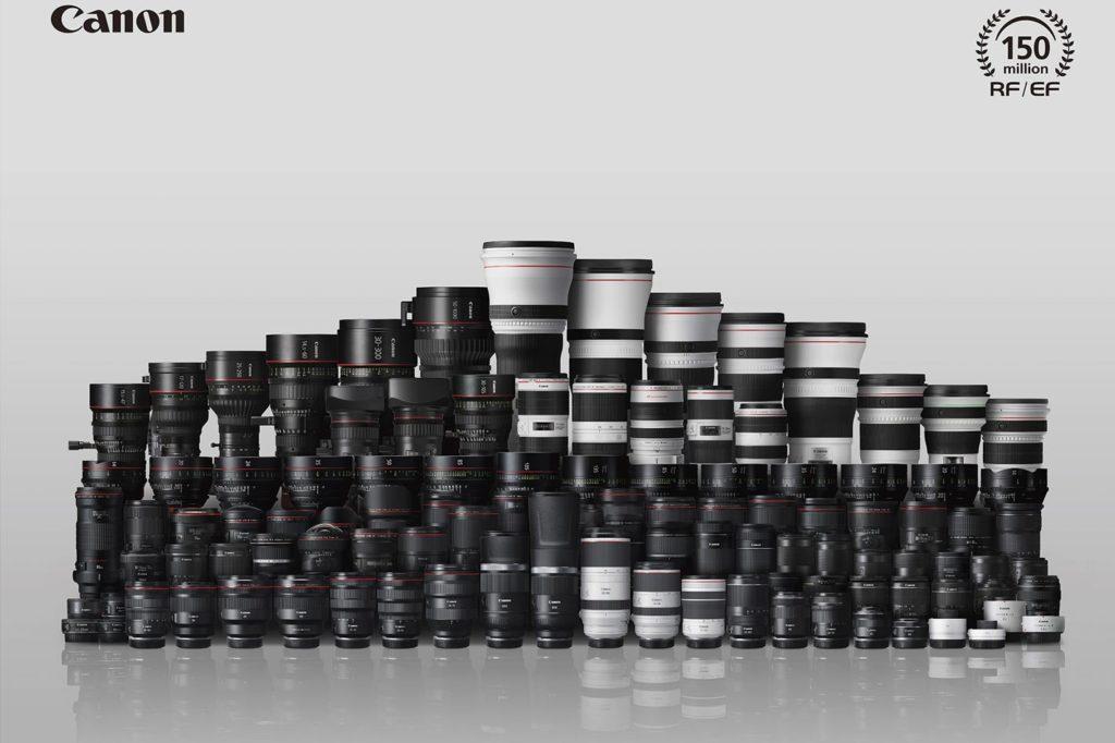 Canon's milestone: 150 million RF and EF lenses produced